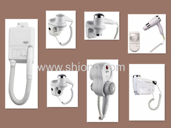 China Hotel Hair Dryers Wall Mounted