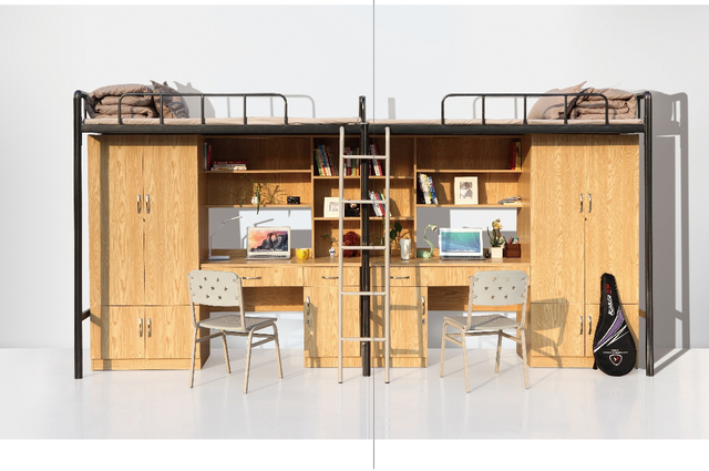 Full Loft Bed with Desk Underneath