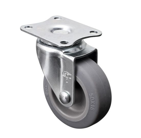 "Small Rubber Caster Wheels Mini 2"" 30kg"