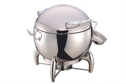 Round Chafing Dish with Glass Lid