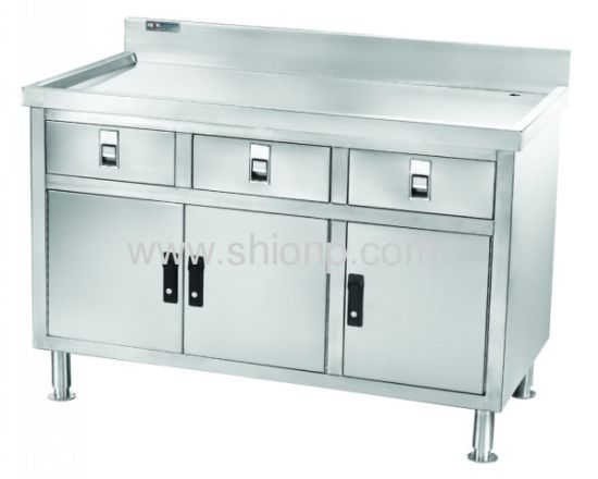Stainless Steel Enclosed Base Commercial Work Tables